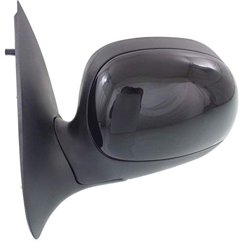 New Front Left Driver Side Manual Door Mirror For 1997-2002 Ford F-Series Non-Hated, Contour Style, To 2-11-02, All Cab Types, FO1320178 ()
