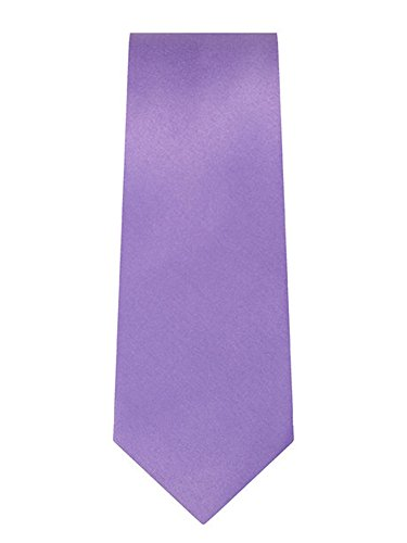 (Marquis Men's Violet Solid Slim Neck Tie & Hanky Set TH901-VIO)