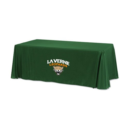 LaVerne Dark Green 6 foot Table Throw 'Official Logo' by CollegeFanGear