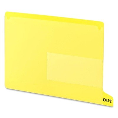 SMD61956 - Smead 61956 Yellow End Tab Poly Out Guides - Two-Pocket Style