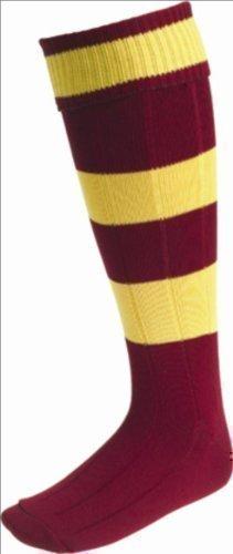 ND deportes calcetines de fútbol contraste aros granate/Amber - Grandes Chicos: Amazon.es: Deportes y aire libre