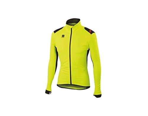 ストロー体操選手モスクSportful(スポーツフル) Hotpack No Rain ホットパック ノーレイン Rain Jacket レインジャケット (XL, Yellow/Black) [並行輸入品]