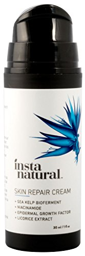 Instanatural scar cream - Treatment for old & new scars - with 15% sea kelp bioferment, almond oil, epidermal growth factor, niacinamide, msm & vitamin e - skin hydrating formula packaging may vary
