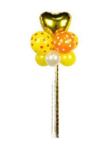 (Five-pointed Ribbon 3 Pcs Balloon for Birthday Christmas Wedding Romantic)