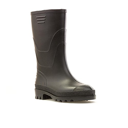 Kids Wellington (Zone Hearts Kids Black Wellington Boots - Size 3 UK/4 Youth US - Black)
