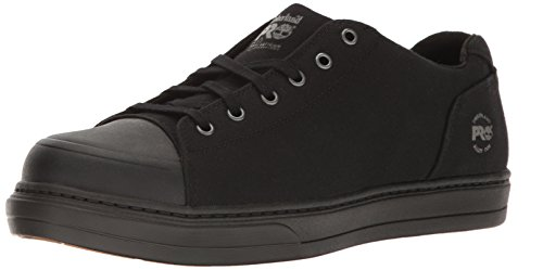 Timberland PRO Men's Disruptor Oxford Alloy Safety Toe EH Industrial & Construction Shoe, Black Canvas, 11.5 M US