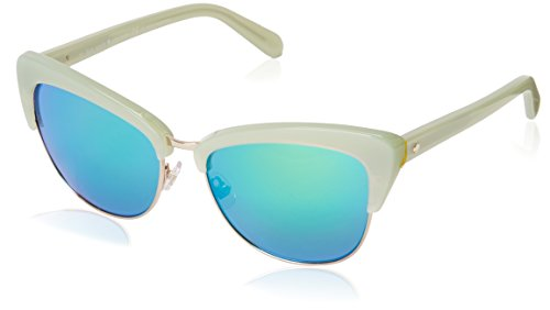 Kate Spade Women's Genette Cateye Sunglasses, Mint & Green Multilayer, 56 - Case Kate Spade Sunglass Green