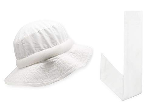 Blubandoo | Water Activated Cooling Crystals | Floppy Hatbandoo Bucket Hat Size L/XL with Matching White Neckbandoo | Unisex Hat -