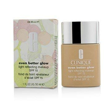 Clinique Even Better Glow Light Reflecting Makeup Broad Spectrum SPF 15, No.Cn 28 Ivory, 1 Ounce