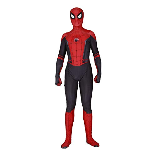 YuanMan 2019 Far from Home Spiderman Cosplay Costume Unisex Halloween Lycra Spandex Zentai (Kids-L, 2019)]()