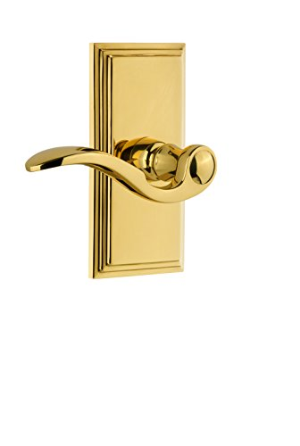 - Grandeur 810698 Carre Plate Passage with Bellagio Lever In Lifetime Brass,, Passage - 2.375