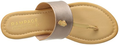Rose Women Foam Sandal Memory Thong Paddy Slip Bar Gold T Insole Knot Rampage On AgxwqC7dw