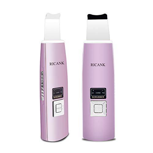 RICANK Facial Skin Scrubber Blackhead Remover Pores Cleanser Cutin Comedones Removal Skin Peeling Pimple Extractor Blemish Exfoliation Skin Exfoliator Purple