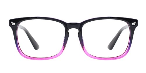 TIJN Blue Light Blocking Glasses Square Nerd Eyeglasses Frame Anti Blue Ray Computer Game -