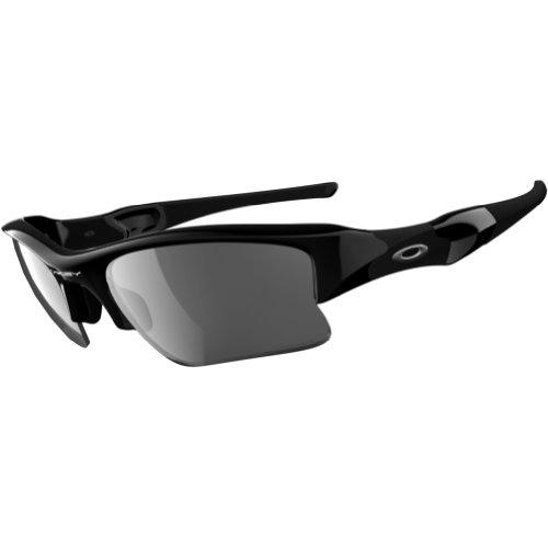 (Oakley Flak Jacket XLJ Adult Polarized Sport Outdoor Sunglasses/Eyewear - Jet Black/Black Iridium/One Size Fits)
