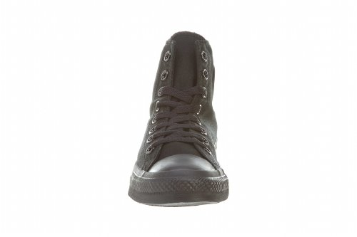 Zapatillas Altas Con Cordones All Star Unisex Chuck Taylor (9 B (m) Us Mujer / 7 D (m) Us Hombres, Black Monocromo)