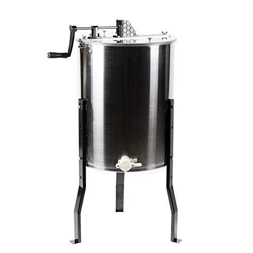 VIVO Large 3 Frame Stainless Steel Honey Extractor SS Model (BEE-V003D)