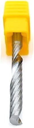 tama/ño : 3.175x3.175x10 Herramienta CNC Molino de Extremo del carburo de tungsteno de Acero Espiral Fresa de la m/áquina de Grabado 3,175 mm V/ástago 1 Flauta for MDF WNJ-Tool Madera Maciza