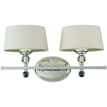 Savoy house lighting 8 1041 2 109 murren collection 2 light bath bar polished nickel with white shades