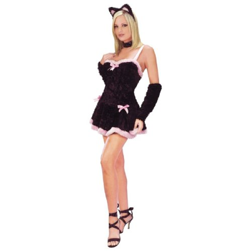 Kiss Me Kitty Costume - Medium/Large - Dress Size 10-14 (Kiss Me Kitty Costume)
