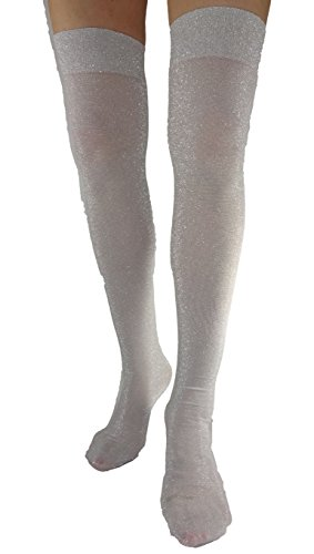 Lurex Thigh High (High Socks Silver Knee)