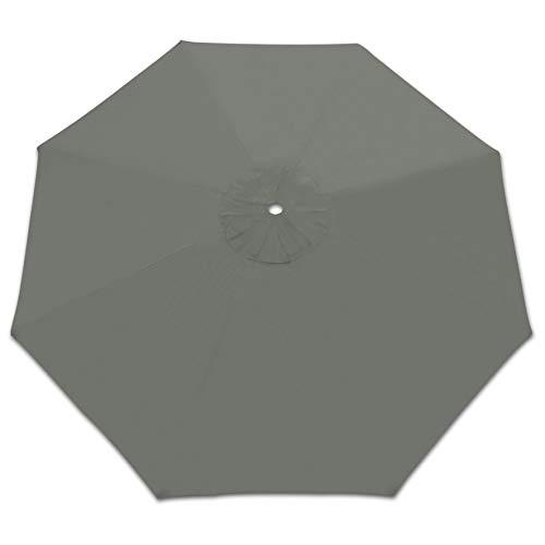 Strong Camel Patio Umbrella Replacement Canopy Cover for 10FT 8 Ribs Market Umbrella (Grey)