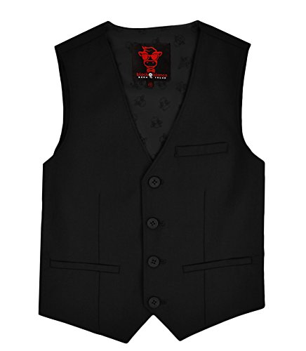 Black n Bianco Boys' First Class Slim Suits Black 12 by Black n Bianco (Image #4)