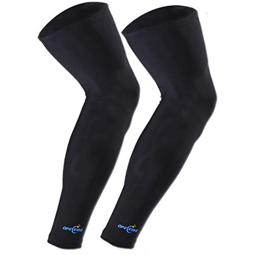 Leg Sleeve,Compression Knee Sleeve Wraps,Thigh Calf Support for Shin Splints Running,Medical,Air Travel,Pain Relief for Men and Women - 1 Pair