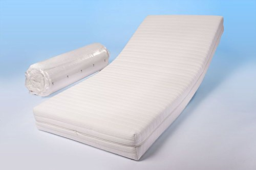 Dinaflex Colchón Morfeo Deluxe (120 x 200 cm), Estilo Confort Relax ortopédico, Grosor Total 18,5 cm, Mezcla, se Puede Quitar y Lavar, antialergénico y ...