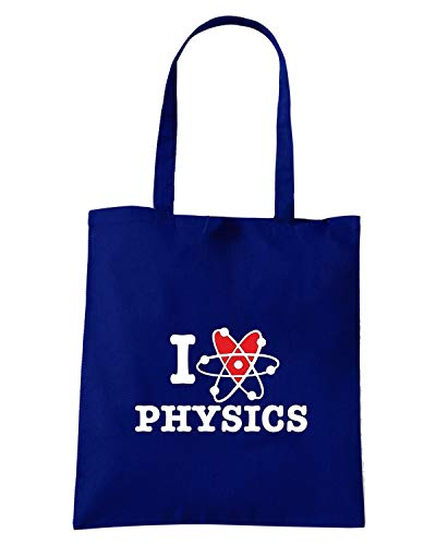 I TLOVE0087 Borsa Blu Navy Shopper LOVE PHYSICS 7w1SqITO