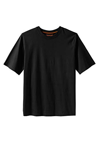 Heavyweight Cotton Shirt - Boulder Creek Heavyweight Crewneck Cotton Tee Shirt, Black Tall-3XL