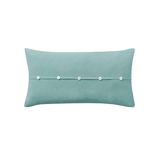909 Wash Cotton 1PC Cotton Oblong Pillow Blue [並行輸入品] B07R6YQWXL
