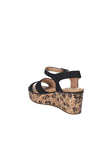 Wedge Black Stonefly 39 110283 Women Sandals xSnqCx0wf