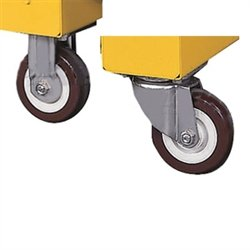 4 Standard Casters for Justrite Safesite Storage Chests (2 swivel, 2 locking) by Justrite