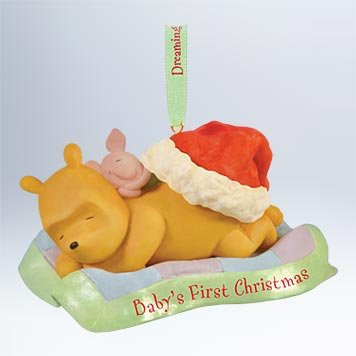 Amazon.com: QXD1679 Baby's First Christmas Winnie the Pooh 2011 ...