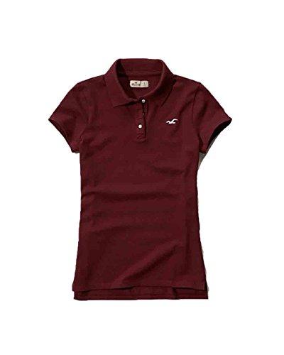 hollister-womens-slim-fit-polo-shirt-m-burgundy
