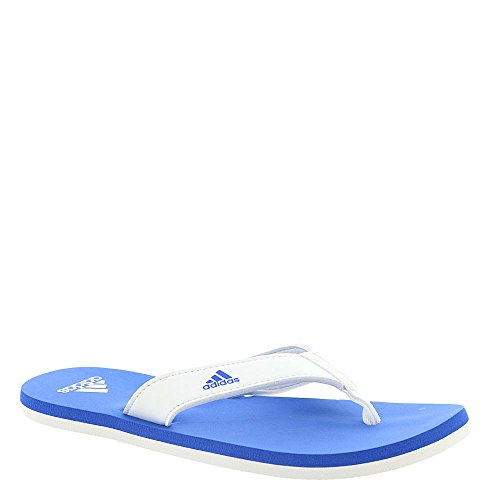 adidas Performance Unisex-Kids Beach Thong 2 K, White/Hi-Res Blue/White, 13 M US Little ()