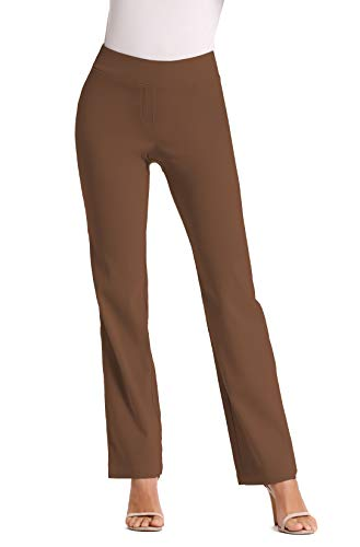 Foucome Dress Pants for Women-Slim Bootcut Stretch High Waist Trousers with All Day Comfort Pull On  - http://coolthings.us