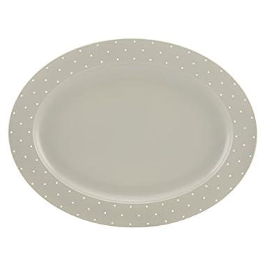 kate spade new york Larabee Dot Grey 16  Oval Platter