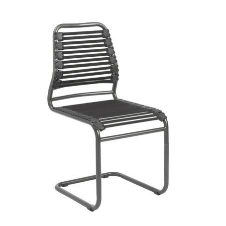 (Modern Black Bungee and Steel Guest or Conference Chair (Set of)