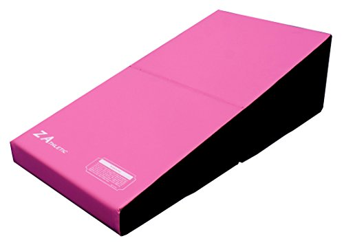 Z-Athletic Junior Incline Cheese Mat Wedge Mat for Gymnastics, Cheerleading (Pink/Black)