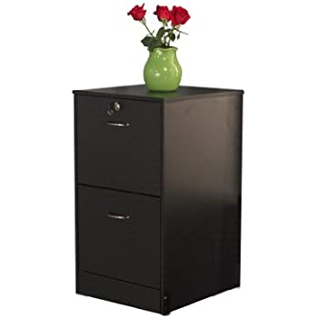 Amazon.com: TMS Wilson 2-Drawer Filing Cabinet, Espresso: Kitchen ...