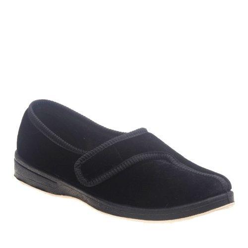 Foamtreads Women's Jewel Slippers,Black,9.5 M