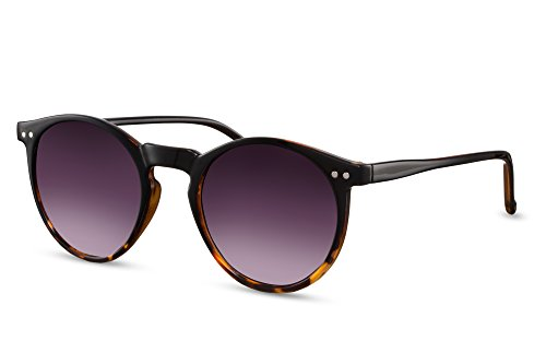 Hommes Ca Lunettes Sunglasses Cheapass Connaisseur 002 Miroitant Rétro Femmes Brun Noir Noir Rondes z1vqxnv