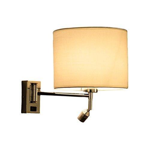 Lámpara de pared de LED, Lámpara de cabecera de dormitorio Lámpara de pared de balancín de sala de estar Hotel Works...
