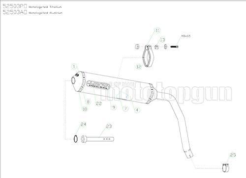 TUBO DE ESCAPE ARROW HOMOLOGADO THUNDER ALUMINIO HONDA XL 125-V VARADERO 2005 05 52503AO