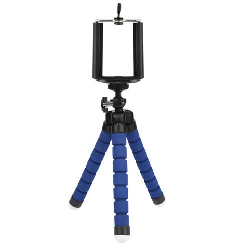 Mini Flexible Sponge Octopus Tripod for iPhone Samsung Xiaomi Huawei Mobile Phone Smartphone Tripod for Camera Accessory (Blue) by Angelstore Live Tripods (Image #1)