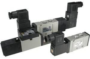 Single Solenoid 2 Position Solenoid-Operated Air Control Valve Base Mounted Plug-In 5 Port