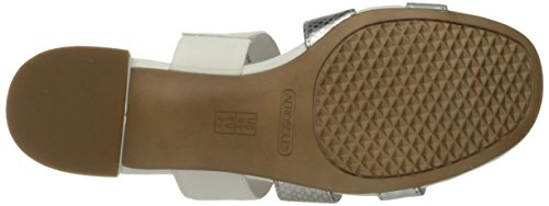 Aerosoles Dames Back-down Slide Sandaal Witte Combinatie
