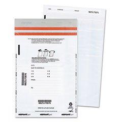 -- Tamper-Evident Deposit Bags, 9 x 12, White, 100 per Pack by MOT3 (Image #1)